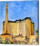 Paris Hotel And Casino Acrylic Print