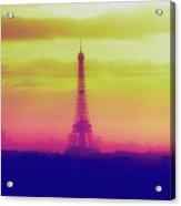 Paris Through The Haze Acrylic Print