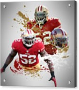 Patrick Willis 49ers Acrylic Print