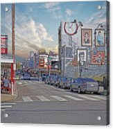 Pat's And Geno's Acrylic Print by Jack Paolini