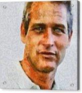 Paul Newman, Vintage Hollywood Actor Acrylic Print