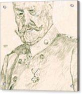 Paul Von Hindenburg Acrylic Print
