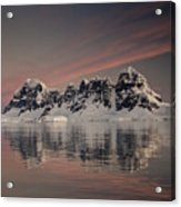 Peaks At Sunset Wiencke Island Acrylic Print by Colin Monteath