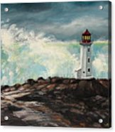Peggy's Cove Lighthouse Hurricane Acrylic Print