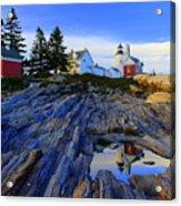 Pemaquid Point Light Reflections Acrylic Print