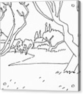 Pen Landscape Acrylic Print