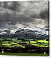 Pen Y Fan And Brecon Beacons Panorama Acrylic Print