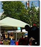 People At Food Event Acrylic Print