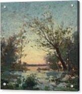 Per Ekstrom, French Landscape In Sunset. Acrylic Print
