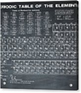 Periodic Table Of Elements In Black Acrylic Print