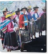 Peruvian Ladies Acrylic Print