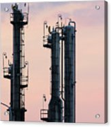 Petrochemical Plant Industry Zone Twilight Acrylic Print