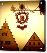 Pharmacy Sign In Rothenburg Acrylic Print