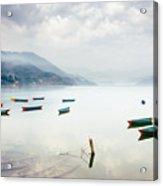 Phewa Lake In Pokhara, Nepal Acrylic Print