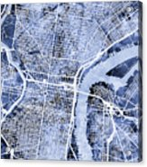 Philadelphia Pennsylvania City Street Map Acrylic Print