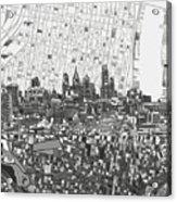 Philadelphia Skyline Map 4 Acrylic Print
