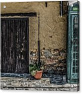 Phone Booth In Cyprus Acrylic Print