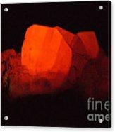 Phosphorescent Calcite Crystal Acrylic Print
