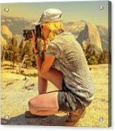 Photographer On Sentinel Dome Acrylic Print