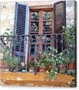 Pienza Balcony Acrylic Print
