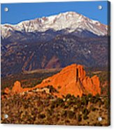 Pike's Peak And Garden Of The Gods Acrylic Print