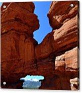 Pikes Peak Through Natural Window Acrylic Print