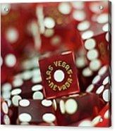Pile Of Dice At A Casino, Las Vegas, Nevada Acrylic Print