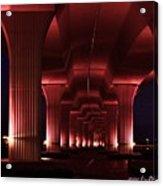 Pink Bridge 4 Acrylic Print