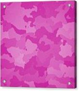 Pink Camo  Acrylic Print