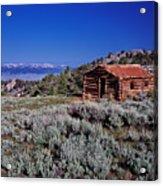 Pioneer Cabin Acrylic Print