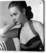 Piper Laurie, 1954 Acrylic Print by Everett
