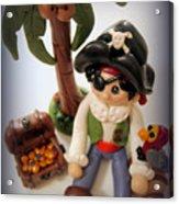 Pirate Scene Acrylic Print by Trina Prenzi