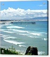 Pismo Beach Pier Panorama Acrylic Print