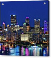 Pittsburgh Night Skyline Acrylic Print