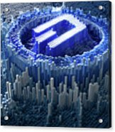 Pixel Dash Concept Acrylic Print