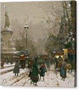 Place De La Republique In Winter Acrylic Print