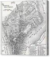 Plan Of The City Of New York Acrylic Print
