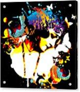 Poetic Peacock - Bespattered Acrylic Print