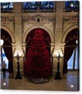 Poinsettia Christmas Tree The Breakers Acrylic Print