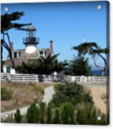Point Pinos Lighthouse In Pacific Grove, California Acrylic Print