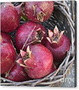 Pomegranates In A Basket Acrylic Print