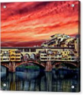 Ponte Vecchio Bridge Acrylic Print