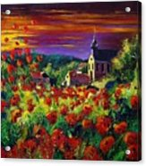 Poppies In Foy Acrylic Print