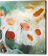 Poppies In The Clouds Acrylic Print