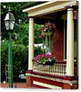 Porch With Hanging Plants Acrylic Print