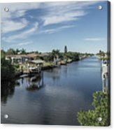 Port Charlotte Ackerman Waterway From Ohara Acrylic Print