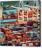 Port Of Oakland Aerial Photo Acrylic Print