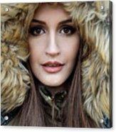Portrait Of A Beautiful Woman Acrylic Print