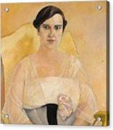 Portrait Of A Lady Boris Grigoriev Acrylic Print