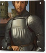 Portrait Of A Man In Armour Acrylic Print